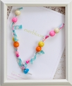 Everbloom Necklaces Colorful Beaded Girls Necklace with Porcini