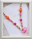 Everbloom Necklaces Flirty Pink Birdie Necklace with Bright Beads