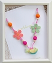 Everbloom Necklaces Melodic Green Birdie with Flowers