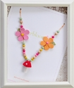Everbloom Necklaces Red Mushroom Pendant Beaded Girls Necklace