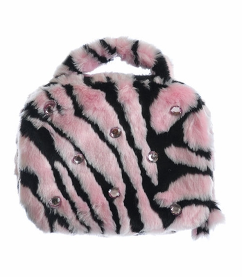 Faith Knight Pink Zebra Lunch Box for Girls