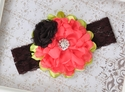 Fall Blossom Fancy Headband for Girls