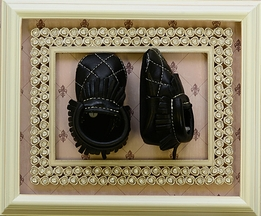 First Steps Leather Quilted Moccasins Black