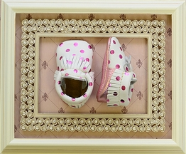 First Steps Moccasins Polka Dot