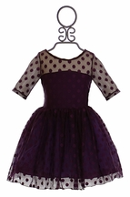 Five Loaves Two Fish Polka Dot Dress in Purple