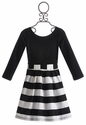 Five Loaves Two Fish Soloist Tween Dress Black and White