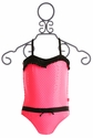 Floatimini Girls Pink Sparkle Swimsuit