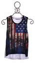 Flowers By Zoe American Flag Girls Tank Top