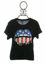 Flowers by Zoe American Flag Tee for Girls (Size MD10)