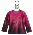 Flowers By Zoe Aztec Heart Tween Sweatshirt Pink