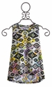 Flowers by Zoe Aztec Top with Peace Sign Cutout Back (Size SM 7/8)