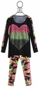 Flowers By Zoe Batwing Heart Top and Neon Camo Leggings