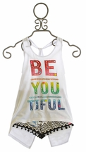 Flowers by Zoe Be You Tank Top with Shorts (Size SM 7/8)