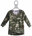 Flowers By Zoe Beaded Heart Army Top for Tweens