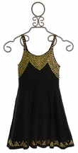Flowers by Zoe Black Dress with Gold Studs for Tweens (SM 7/8 & LG 10/12)
