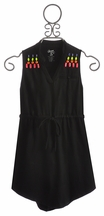 Flowers by Zoe Black Dress with Jewelled Accents (Size SM 7/8)