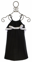 Flowers by Zoe Black Dress with Sequin Trim for Tweens (LG 10/12 & XL 12/14)