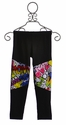 Flowers By Zoe Black Legging for Girls with Graphic