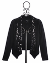 Flowers By Zoe Black Sequin Sweater for Tweens