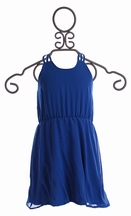 Flowers By Zoe Blue Party Dress for Tweens