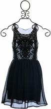 Flowers by Zoe Chiffon Sequin Tween Dress