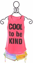Flowers by Zoe Cool to be Kind Top  with Shorts (Size LG10/12)