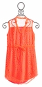 Flowers by Zoe Neon Orange Girls Dress