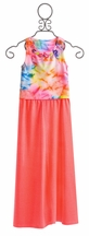 Flowers by Zoe Crop Top with Long Skirt (Size LG 10/12)