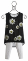 Flowers by Zoe Daisy Tank with High Low Hem and Capri