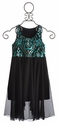 Flowers By Zoe Dazzling Tween Dress with Sequin Design