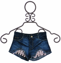 Flowers by Zoe Denim Shorts with Crochet