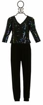 Flowers by Zoe Fancy Jumpsuit for Tweens with Sequin Bodice (Size MD 10)