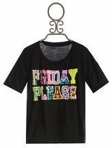 Flowers by Zoe Friday Please Tee for Tweens with Sequins (Size XL 12/14)