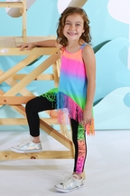 Flowers By Zoe Fringe Top and Capri Set for Tweens (LG 10/12 & XL 12/14)