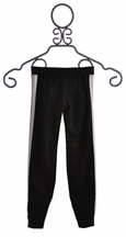 Flowers by Zoe Girls Classy Black Pants with White Pleather (MD 10 & XL 12/14)