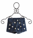 Flowers by Zoe Girls Jean Shorts with Daisy Trim (Size MD 10)