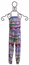 Flowers by Zoe Girls Jumpsuit in Abstract Print
