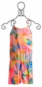 Flowers by Zoe Girls Romper Tie Dye