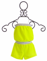 Flowers By Zoe Girls Romper Universal Neon (5 & 6)
