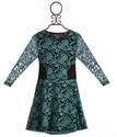Flowers by Zoe Girls Special Occasion Lace Dress in Teal