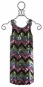 Flowers By Zoe Girls Tank Dress with Sequin Chevron Front