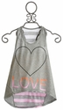 Flowers By Zoe Girls Tween Gray Heart Tunic