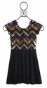 Flowers By Zoe Gold Chevron Tween Dress (Size SM 7/8)