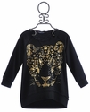 Flowers By Zoe Gold Leopard Face Tween Top