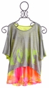 Flowers By Zoe Grey Tween Batwing Top and Neon Shorts