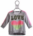 Flowers By Zoe Grey Tween Sweatshirt Neon Love