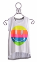 Flowers by Zoe Happy Face Tank in Rainbow