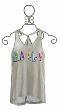 Flowers by Zoe Happy Tank Top with Sequins