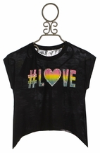 Flowers by Zoe Hashtag Love Tee for Tweens (LG10/12 & XL12/14)