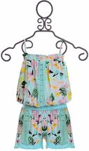 Flowers by Zoe Hawaiian Print Romper (MD10 & LG10/12)